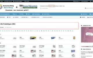 brShop24 - Produkttypen Index